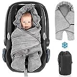 Zamboo Baby Einschlagdecke mit Füßen - Winter - gefütterte Decke für Babyschalen/Autositze...