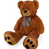 Deuba Teddy | Größe XL 100cm | Farbe Braun | Allergiker geeignet | Teddybär Kuscheltier Stofftier...