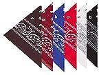 Boolavard 100% Baumwolle, 1, 6 oder 12 Bandanas mit Original Paisley-Muster Wahl der Schal-Verpackung Headwear/Wrap Haar-Kopf-Hals-Band-Kopf (6 Mischauftrag 3)