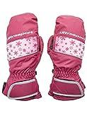 Ultrasport Basic Ski Fäustlinge Starflake, Fausthandschuhe für Kinder mit guter Bewegungsfreiheit, wasserbeständig und winddicht, beere, Größe 6 - 8 J.