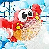 Addmos Badewannenspielzeug,Blase Badespielzeug Seifenblasenmaschine Wasserspielzeug Automatisch Baby Spielzeug mit Musik ab 18 Monate, Spielzeug für die Badewanne