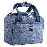 KonJin Klein Leicht Lunch Tasche Isoliertasche zur Arbeit Schule Faltbar Wasserdicht Reißverschluss 24 X 14 X 17cm