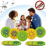 Janolia 32 Stück Mückenschutz-Aufkleber, Natürlich Deet frei Anti-Moskito-Tabletten, Wirksamer...