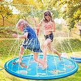 Splash Pad, 68 Zoll Wasser-Spielmatte Wasserbefülltes Baby-Spielzeug Sprinkler und Splash Play...