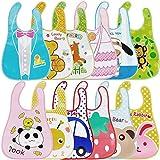 Lictin Baby Bib Set Babylätzchen Wasserdicht Lätzchen Unisex Baby Lätzchen Set für Baby (bunt)