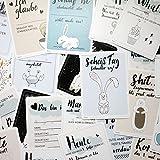 EVERLAR 30 Lustige Baby Meilenstein Foto Karten, Wunderbar anders & einzigartig, liebevoll gestaltet, ideales Geschenk für Geburt & Taufe, unvergessliche & humorvolle Erinnerungen