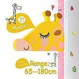 AOBETAK 3D Messlatte Höhe Diagramm für Baby Kind, Magnetisch Höhenmesser Wandsticker, Wandtattoo Dekoration für Junge Mädchen Kinderzimmer Babyzimmer Wand, mit Markenstift, Giraffe