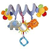 1 Stück Hängendes Spiral-Spielzeug für Kinderwagen, Rasseln, Spielzeug für Wiege, Mobile, Krippe, Reisebett, Säugling und Baby.