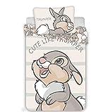 Disney Bambi Klopfer Bettwäsche Set 2 TLG. Gr.: 100 x 135 cm, 40x60 cm 100% Baumwolle