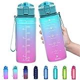 ZOUNICH Trinkflasche Kinder Auslaufsichere 1L/700ml/500ml-BPA frei trinkflaschen Sport tritan...