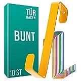 4smile Türhaken zum Einhängen – 10er Set, bunt – Made in Germany Kleiderhaken für die Tür – Türhaken Kinderzimmer als farbenfrohe Ordnungshelfer