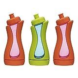 iiamo sport 3 Trinkflaschen Kinder und Wasserflaschen Sportflaschen 380 ml BPA-frei (3 Stück)