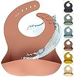 Silikon Baby Lätzchen mit Auffangschale | Silikonlätzchen Muted für Mädchen | BPA-frei, Ergonomisch, Wasserdicht, Abwaschbar & leicht zu reinigen (Muted, Pastell Rosa)