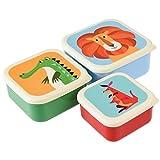 Rex International Set, 3 Snackdosen Frischhaltedosen Brotboxen Safari Tiere
