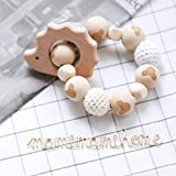 Mamimami Home Hölzernes Igel Teether Kauen Perlen Baby Zahnen Spielzeug Ungiftig Häkelnde Perlen...