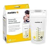 Medela Muttermilchbeutel, hygienisch, platzsparend, auslaufsicher (50 Stück)