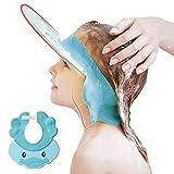 Duschhaube Kinder, Baby Verstellbarer Shampoo Schutz, Shampoo Bade Bad SchüTzen Weiche Kappe Hut,...