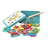 zhouweiwei Outdoor Spielzeug Spielzeug Pool Elektrisch Magnet Ocean Holz Angelspielzeug Rute Set Für Kinder Kind Modell Spielen Angelspiele