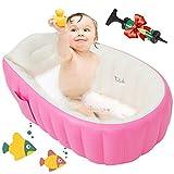 Maydolly Aufblasbare Baby-Badewanne, rutschfest, weich, faltbar, für Dusche, Pool, Reise,...