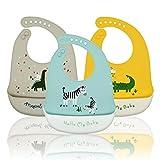 Baogaier Lätzchen Silikon Baby Wasserdichte, Silikon-lätzchen Babylätzchen mit Auffangschale Zum...