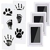 3 pcs Baby Abdruck set Nabance Baby Handabdruck und Fußabdruck Clean Touch Stempelkissen Baby...