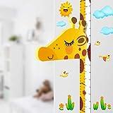 Baby Messlatte Höhe Diagramm für Kinderziemmer Dekoration, 3D beweglicher Giraffenkopf...