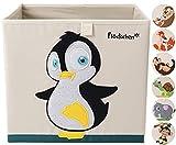 Flöckchen Kinder Aufbewahrungsbox, Spielzeugbox für Kinderzimmer I Spielzeug Box (33x33x33) passt...