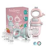 TABRIX® Fruchtsauger Baby ab 3 Monate & Kleinkind (2x) - Zahnungshilfe mit Druckfunktion - BPA-Frei...