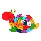 Holzpuzzle Kinder Holz-Puzzle for 3-Jährige Puzzlespiel for 2-Jährige Holzpuzzle for 1 Jahr alt Holzpuzzle for 2-Jährige Dinosaurier & a zcaqtajro (Color : Snail)