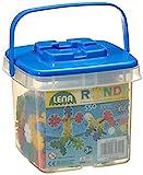 Lena 35820 Bastelset 25 mm, Konstruktionsbauteile Set im Eimer, Spielset mit 550 Rondi Bauelementen