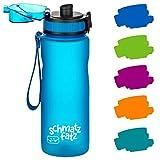 schmatzfatz auslaufsichere Sport Trinkflasche Kinder, BPA frei, 500ml, Fruchteinsatz, 1-klick...