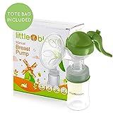 Silikon Milchpumpe von Littlebloom - 100% BPA frei - manuelle Milchpumpe mit verbessertem...