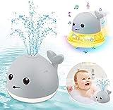 ENJSD Kinder Schwimmende 2 in 1 Badespielzeug Baby Wasserspielzeug Automatische Induktions Sprinkler...