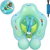 Myir Schwimmring Baby, Aufblasbare Baby Schwimmsitz Schwimmhilfe Swimtrainer Schwimmtrainer Kinder Kleinkind Schwimmreifen Float (Blau, S,3 Monate-1 Jahre)