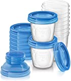 Philips Avent Aufbewahrungsbecher für Muttermilch, 10er Pack (10x 180 ml), SCF618/10, mit...