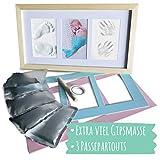 Mammacita Gipsabdruck für Baby Hand und Fuß - Baby Abdruck-Set mit Gips - Bilderrahmen für...