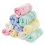 Baby Waschlappen,EXTSUD 10 Stücke Baby Musselin Waschlappen Baby-Handtücher Weiche Neugeborene Baby Gesichtstücher Baby Wipes aus Bio-Baumwolle 25 * 25 CM