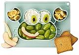 Dentistar® Silikon Essmatte – Baby Teller aus 100% lebensmittelechtem Silikon – Rutschfester Silikon Teller – Mikrowellen-, Kühlschrank- & Ofen-fest – BPA-frei – Made in Germany – Mint