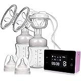 Elektrische Milchpumpe Doppel NEKAN Doppel-Einzel-Milchpumpen Tragbare Stillpumpe mit intelligentem...