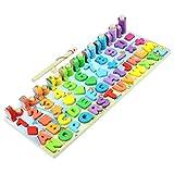 Lernspielzeug Puzzles Kinder Angelspielzeug 5/6-in-1 Magnetische Montessori Holzspielzeug Zahlenform Sortieren Angeln Spiel für Kleinkinder Baby Aufklärung