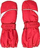 Playshoes Kinder - Unisex 1er Pack warme Winter-Handschuhe mit Klettverschluss Fäustling, Rot (Rot...