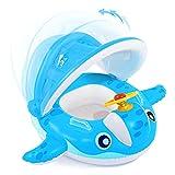 Peradix Baby Schwimmring, Baby Schwimmen Schwimmtrainer mit abnehmbarem Sonnendach, Kinderboot...
