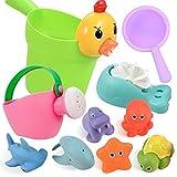 GOLDGE 10Pcs Badewannenspielzeug für Baby ab 1 Jahre, Badespielzeug Wasserspielzeug Baby Nettes...