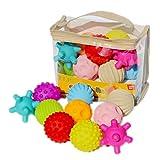 Morninganswer 10 Stück Soft Sensory Balls Baby Hand Catch Massagebälle mit BB Soundeffekt Greifbälle Lernspielzeug für Kinder Baby