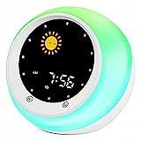 I·Code Sonne & Mond Wecker für Kinder, Kinder Schlaftrainer mit Nachtlicht, Schlaf Sound Maschine,...