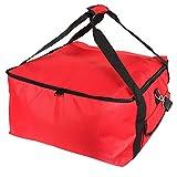 Pizzatasche Pizza Isoliertasche Pizza Transporttaschen Oxford Aluminiumfolie Pizza Liefertasche Kühltasche Faltbar Thermotasche Picknicktasche Lunchtasche Isoliert Lebensmitteltransport 42*42*23cm