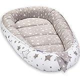 JUKKI® Babynest Babynestchen 50x90 cm Babykokon, 2seitig, 100% Baumwolle, Kissen, Nestchen für...