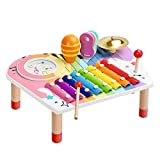 BeebeeRun Baby Musikinstrumente Set, Xylophon Kinder Holz, Geburtstagsgeschenk-Set für Jungen Mädchen (10 Stück)