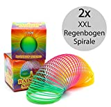 Regenbogenspirale groß XXL im 2er Set   PREMIUM QUALITÄT   7,5 cm Ø   bunte magische...