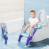 Toilettentensitz kinder, LADUO Kinder Toiletten-Trainingssitz mit rutschfester Trittleiter-Leiter,...